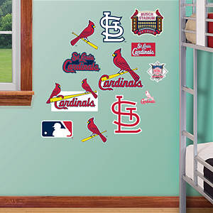 St. Louis Cardinals - Team Logo Assortment Fathead Wall Decal