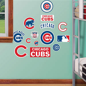 Chicago Cubs - Team Logo Assortment Fathead Wall Decal