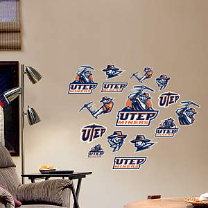 UTEP Miners - Team Logo Assortment Fathead Wall Decal