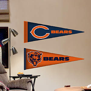 Chicago Bears Pennants - Fathead Jr. Fathead Wall Decal
