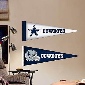 Dallas Cowboys Pennants - Fathead Jr. Fathead Wall Decal
