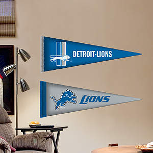 Detroit Lions Pennants - Fathead Jr. Fathead Wall Decal