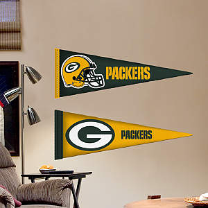 Green Bay Packers Pennants - Fathead Jr. Fathead Wall Decal