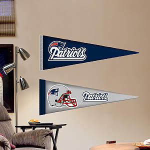 New England Patriots Pennants - Fathead Jr. Fathead Wall Decal