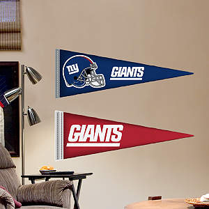 New York Giants Pennants - Fathead Jr. Fathead Wall Decal