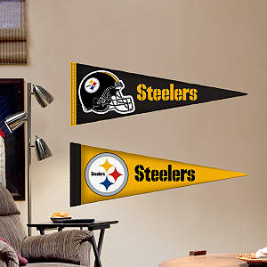Pittsburgh Steelers Pennants - Fathead Jr. Fathead Wall Decal