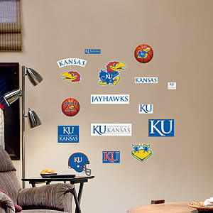 Kansas Jayhawks - Team Logo Assortment Fathead Wall Decal