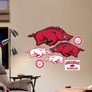 Arkansas Razorbacks - Team Logo Assortment Fathead Wall Decal