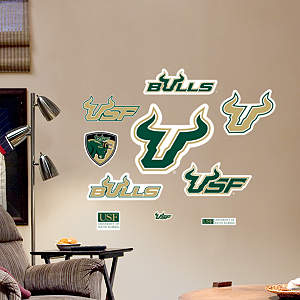 South Florida Bulls - Team Logo Assortment Fathead Wall Decal