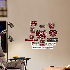 Missouri State Bears - Team Logo Assortment Fathead Wall Decal