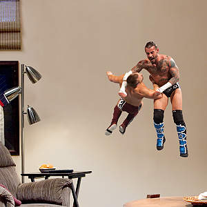 CM Punk Clothesline - Junior Fathead Wall Decal