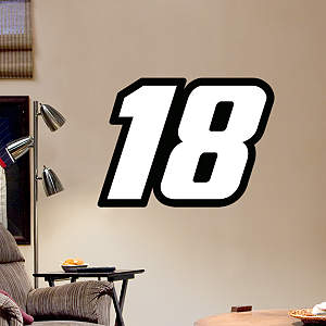 Kyle Busch #18 Logo - Fathead Jr. Fathead Wall Decal