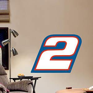 Brad Keselowski #2 Logo - Fathead Jr. Fathead Wall Decal