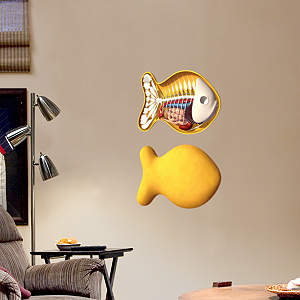Gold Fishy Fathead Wall Decal