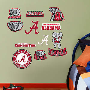 Alabama Crimson Tide - Team Logo Assortment Fathead Wall Decal