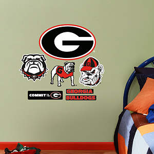 Georgia Bulldogs - Team Logo Assortment Fathead Wall Decal