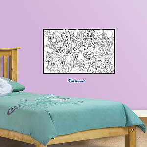 Dry Erase My Little Pony Coloring Sheet Fathead Wall Decal
