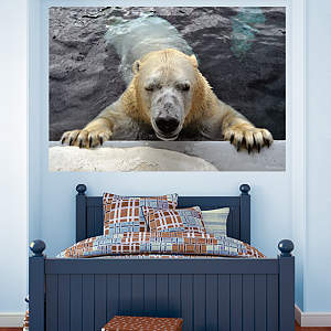 Polar Bear Mural Fathead Wall Decal