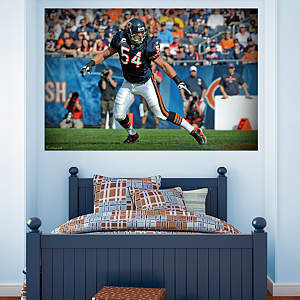 Brian Urlacher In Your Face Mural Fathead Wall Decal