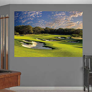 PGA TOUR TPC San Antonio AT&T Oaks Hole 11 Mural Fathead Wall Decal
