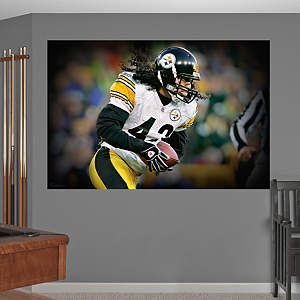 Troy Polamalu In Your Face Mural Fathead Wall Decal