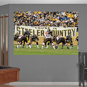 "Steelers-Browns ""Steeler Country"" In Your Face Mural Fathead Wall Decal"