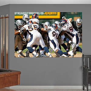 Broncos Defense In Your Face Mural Fathead Wall Decal