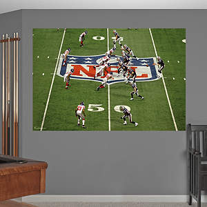Super Bowl XLVI Midfield Mural Fathead Wall Decal