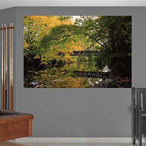 Michigan State - Red Cedar River Mural Fathead Wall Decal