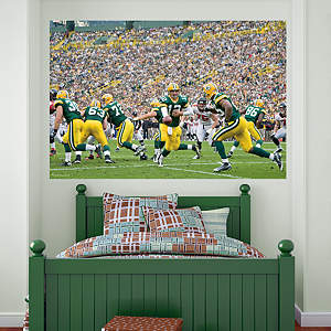 Packers Backfield In Your Face Mural Fathead Wall Decal