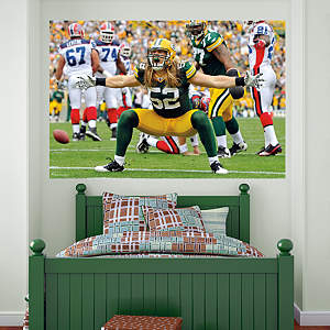 Clay Matthews Mural Fathead Wall Decal