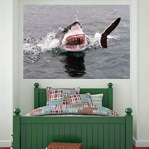 Shark Attack Mural Fathead Wall Decal