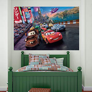 Cars 2 Parade Mural Fathead Wall Decal