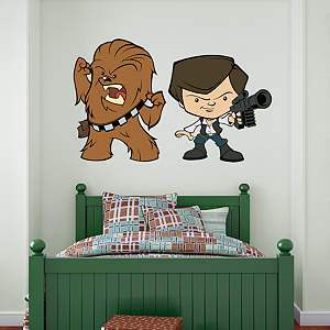 Han Solo & Chewbacca POP! Fathead Wall Decal