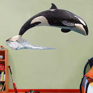 SeaWorld Orca & Crew Fathead Wall Decal