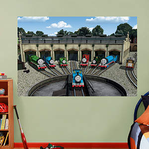 Thomas and Friends: Station Mural Fathead Wall Decal