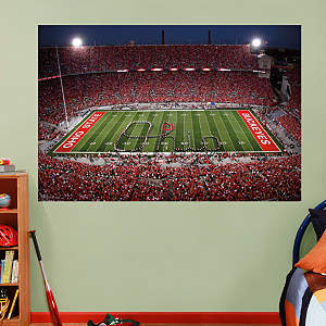 Ohio State - Marching Band Script Ohio Mural Fathead Wall Decal
