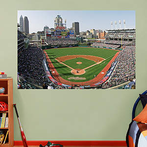 Inside Progressive Field Mural Fathead Wall Decal