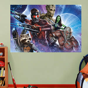 Guardians of the Galaxy - Heroes Mural Fathead Wall Decal