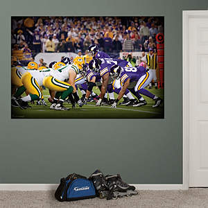 Vikings-Packers Line of Scrimmage Mural Fathead Wall Decal