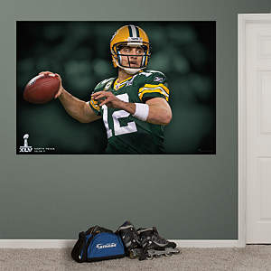 Aaron Rodgers Super Bowl XLV Mural Fathead Wall Decal
