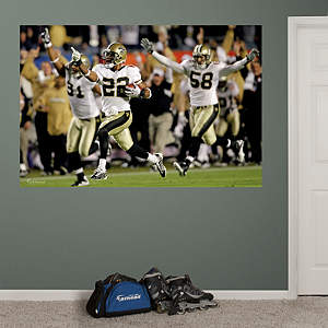 Saints Super Bowl XLIV Mural Fathead Wall Decal