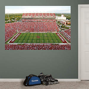 Oklahoma Sooners - Oklahoma Memorial Stadium Mural Fathead Wall Decal