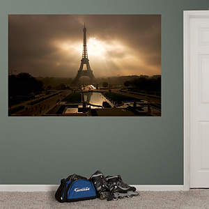 Eiffel Tower at Dusk Mural Fathead Wall Decal