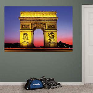 Arc de Triomphe at Night Mural Fathead Wall Decal