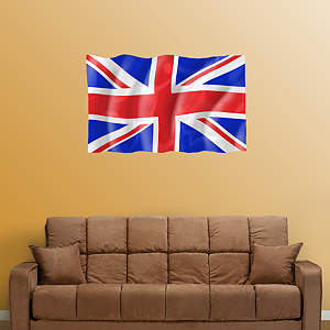 Flag of the United Kingdom Fathead Wall Decal