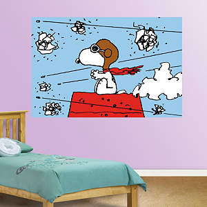 Snoopy - Flying Ace Mural Fathead Wall Decal