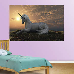 Unicorn At Dusk Mural Fathead Wall Decal