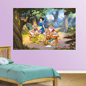 Snow White and the Seven Dwarfs Mural Fathead Wall Decal