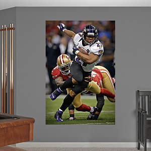 Ray Rice Super Bowl XLVII Rush Mural Fathead Wall Decal
